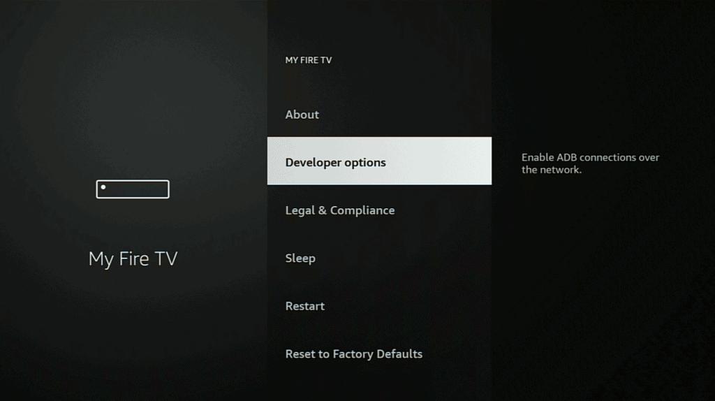 Firestick-Developer-Options