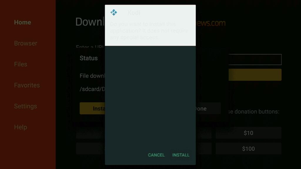 Kodi Install
